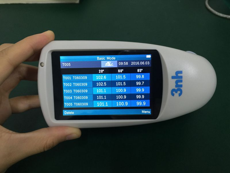 20/60/85 degree three angle gloss meter