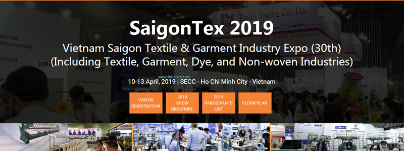 Vietnam Saigon Textile & Garment Industry Expo (30th) SaigonTex 2019