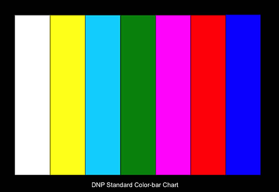 Standard Color Bar Chart For Color Camera adjust, True color theory