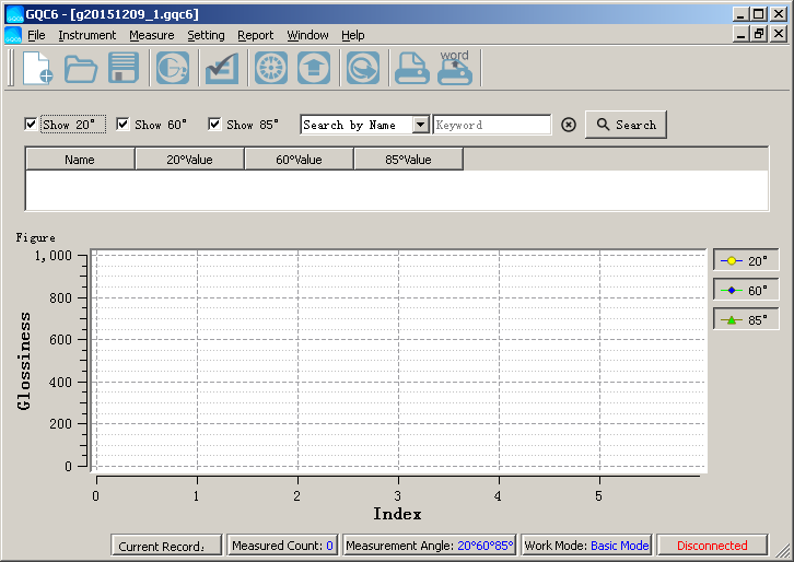GQC6 gloss meter software