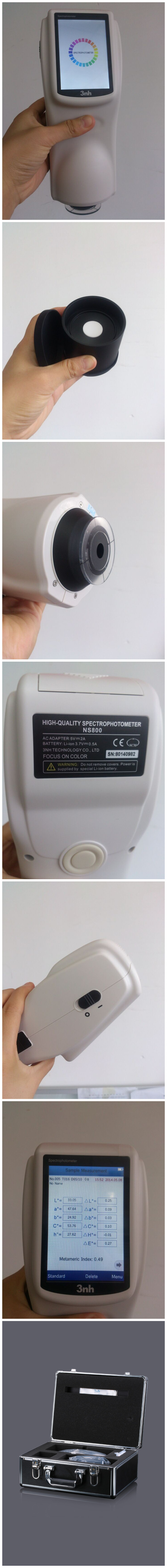 NS800 color spectrophotometer detail