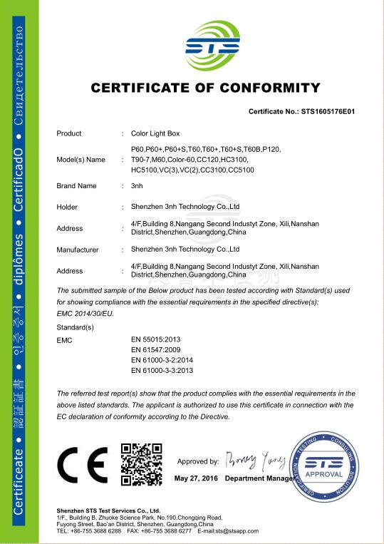 Tilo color light box passed new CE certification