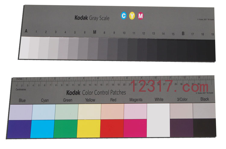Kodak Q-14 Gray Scale Kodak Color Control Patches