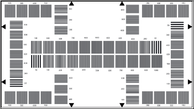 Te224 A Hdtv Resolution Test Chart 50 1000 Cph 16 9 Reflectance