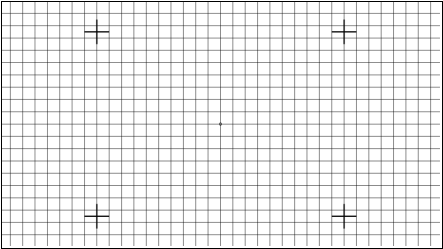 TE248 A Distortion Grid Test Chart Reflectance