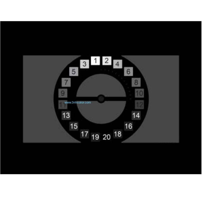 SineImage YE0270X OECF noise SNR and dynamic range chart v2
