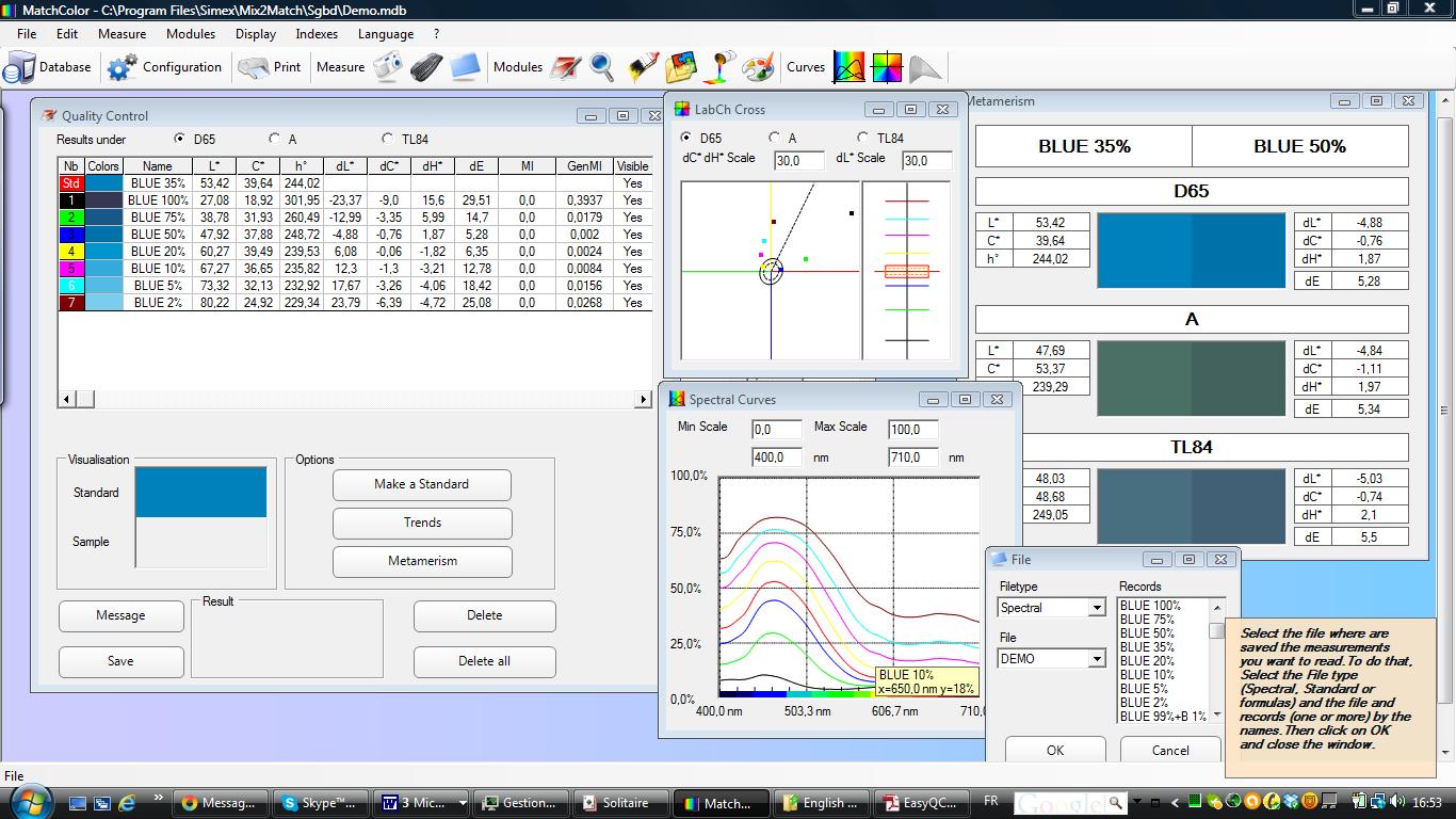 Color Matching System Matchcolor 3nh Colorimeter