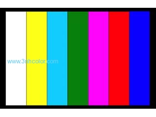 Standard Color Bar Chart For Color Camera adjust, True color theory 3nh YE0106