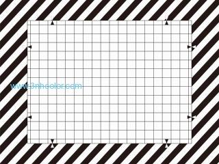 Distortion Grid Camera Test Chart