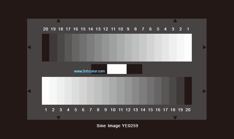 SineImage 20 steps grayscale chart YE0259