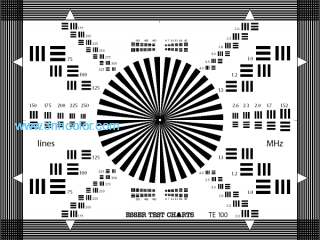 Sineimage YE0100 LENS FOCUS TEST CHART (SECTOR STAR)
