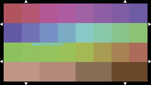 Sineimage YE0233 COLOR SECTOR TEST CHART 16:9 TE233 REFLECTANCE